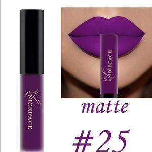 Lipstick waterproof Matte Gloss purple